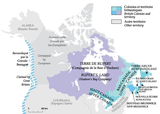 Canadian National Geographic maps 1700 1775 1791 1825 1849 – Map of Canada Interactive