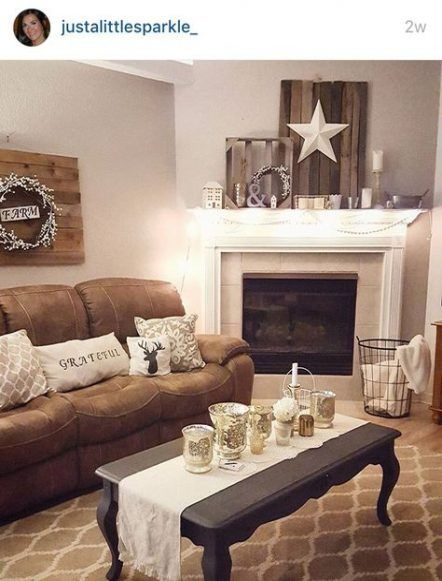 Best Farmhouse Living Room Decor Cottage Style Rustic 54 Ideas Living Room Decor Rustic Brown Couch Living Room Living Room Decor Brown Couch