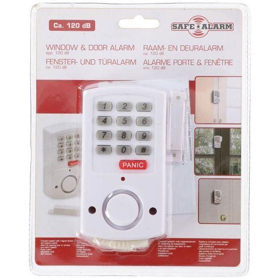 SAFE ALARM Détecteur d'ouverture porte et fenêtre - Avec bouton Panic