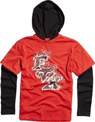2013 Fox Racing Barge Tower Youth Long Sleeve Casual Motocross Kids Shirt