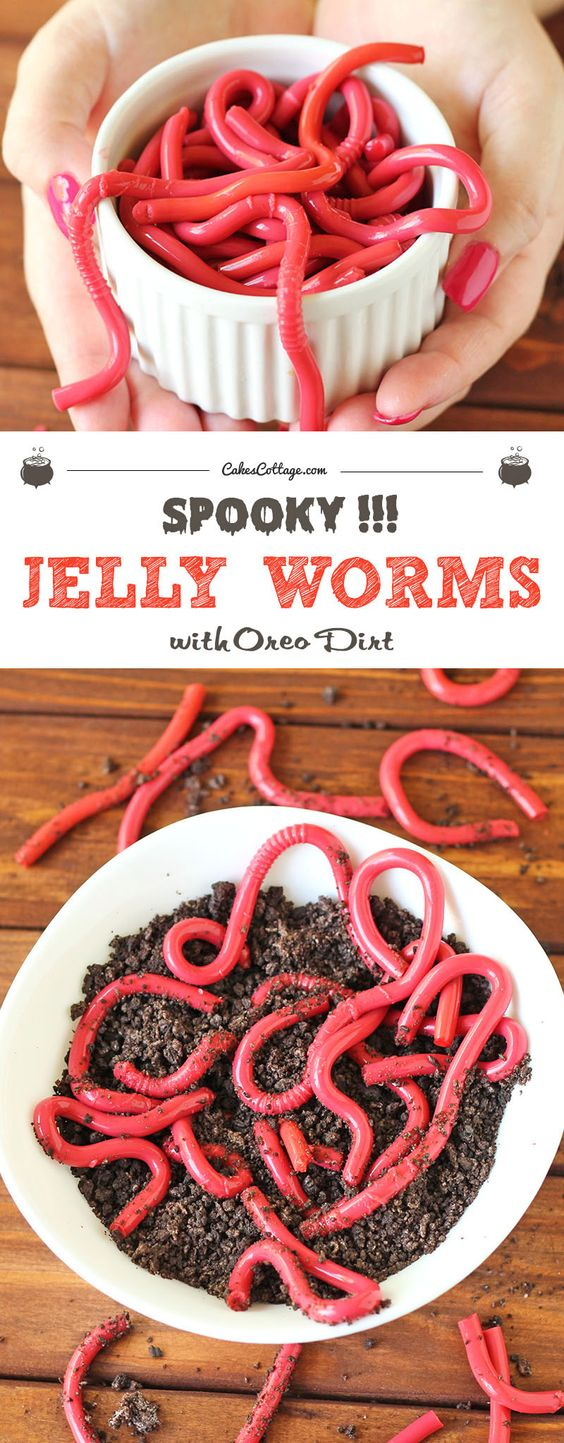 Are you looking for a gross dish for your Halloween party? Make these creepy crawlers — but don't worry, take a few bites and you will see how tasty these jelly worms with oreo dirt can be!