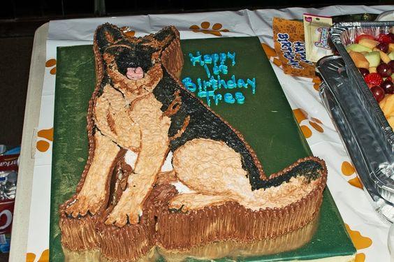 German Shepherd Cake Pan