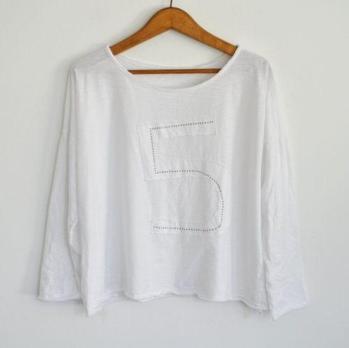 Camiseta Five blanca