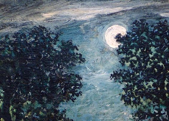 Detail : Canoe in Moonlight Artist: Ralph Albert Blakelock, American, 1847-1919 Medium: Oil on canvas Dates: ca. 1885-1889