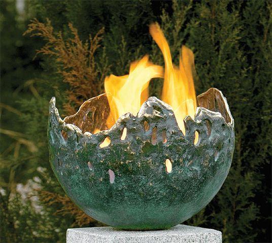 Grüne Feuerschale (Version ohne Granitstele):