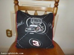 NASCAR 14 Inch Pillow Cover - Dale Earnhardt (Auction ID: 186097, End Time : Apr. 06, 2013 16:57:01) - Free Online Auctions Site Justrightbids