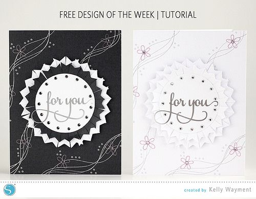 Cards Using Free Design of the Week by Kelly Wayment for Silhouette #silhouettedesignteam