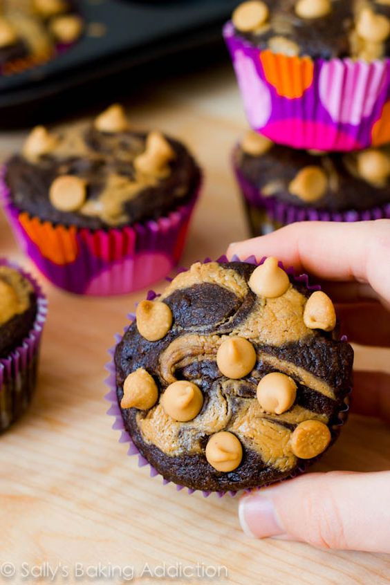 Skinny Chocolate Peanut Butter Swirl Cupcakes | Recipe ...