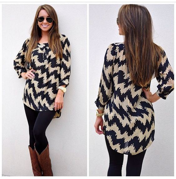 Abstract chevron oversized sweater