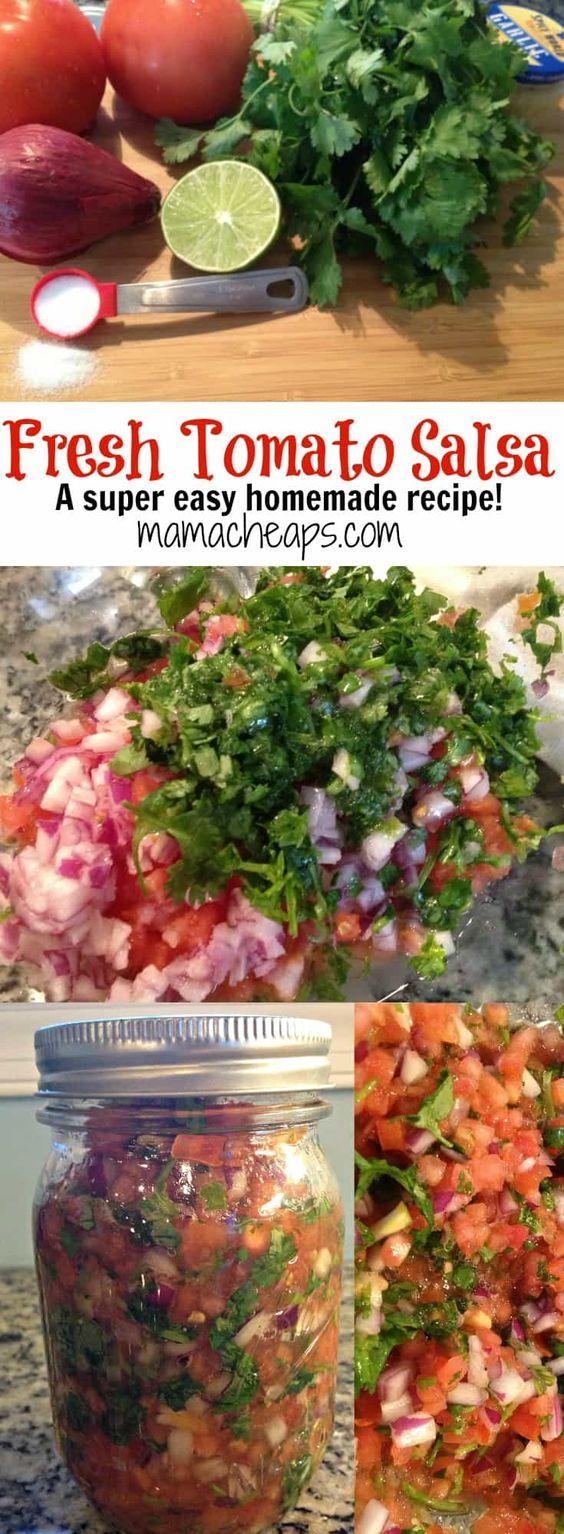 Fresh Tomato Salsa Recipe (Pico de Gallo Chipotle Copycat) | Mama Cheaps®