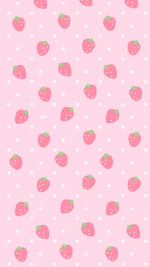 Strawberry Afbeelding Wallpaper Iphone Cute Soft Wallpaper Cute Pastel Wallpaper Beautiful kawaii strawberry wallpaper