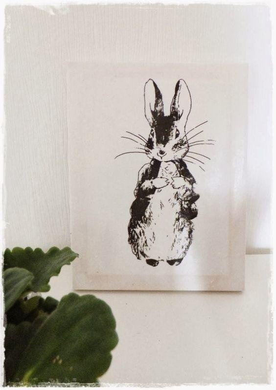 DIY Easter,  Ostern DIY, Osterhase, Bild bedrucken, Rabbit