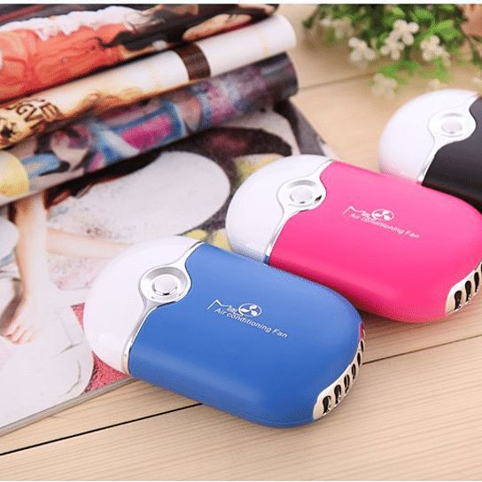 Sleek, light weight, quiet and efficient. This is a great way to beat the summer heat and stay cool no matter where you are. School, parks, beaches, lakes, stadiums, hiking, biking -- take it everywhere! It can cool air up to 30 degrees Fahrenheit and can be charged via USB. If you're heading outdoors this summer, grab a hand held air conditioner!Fan, air-conditioning, and humidifier functionIncludes a humidifier sponge90° adjustable headLanyard included to hang around your neckAt just...