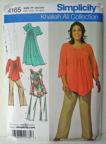 Hippy Boho Peasant Top Sewing Pattern Butterick 5357 Plus Size Large