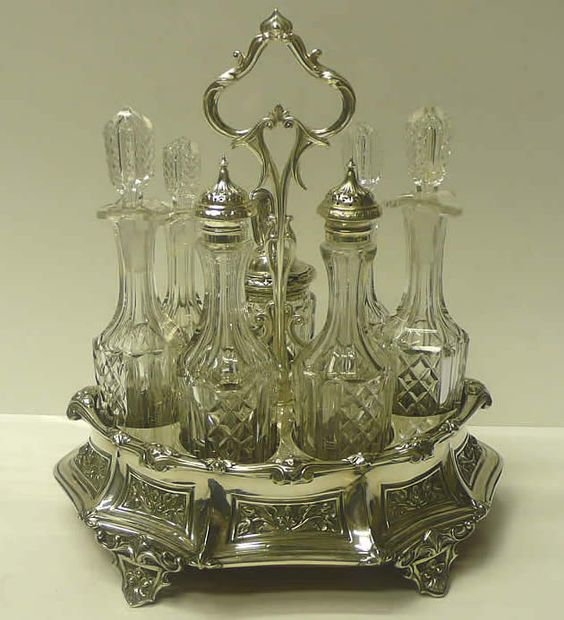 Antique Silver Antiques And Bottle On Pinterest