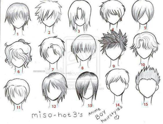 Anime hair boy template | Anime Love | Pinterest | Boys, Hair and ...