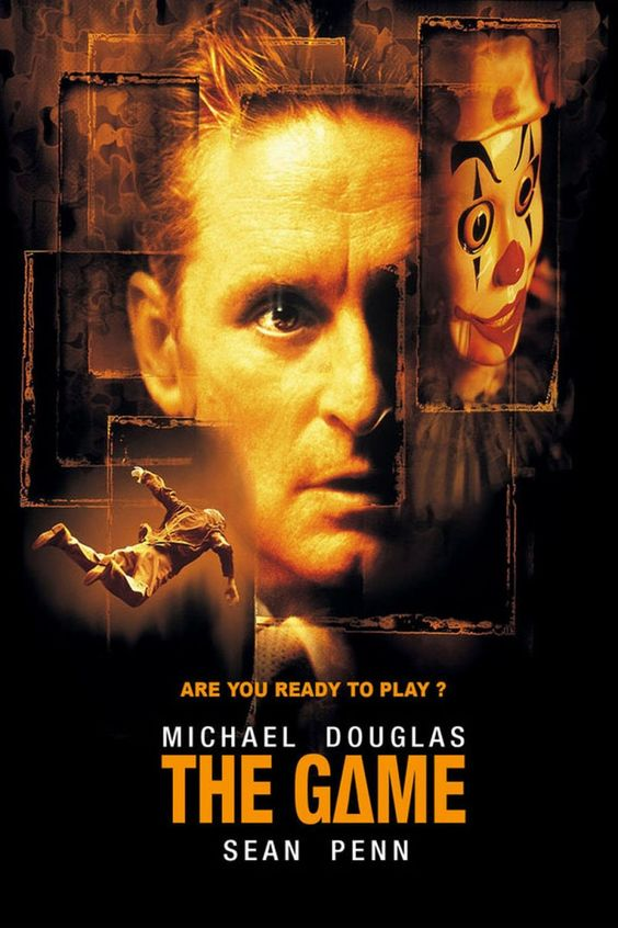 The Game (1997.) Directed by David Fincher. Starring Michael Douglas & Sean Penn with some great supporting work from James Rebhorn & Deborah Kara Unger. This film has a super great ending!