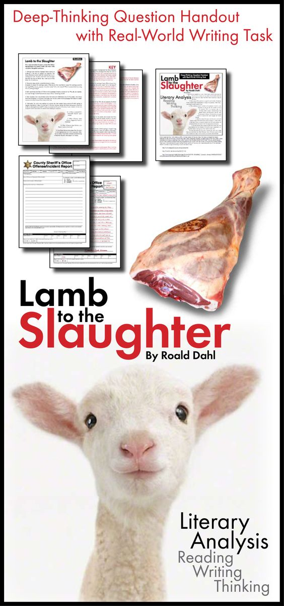 lamb to the slaughter essay thesis Vermont livestock slaughter & processing co stick organic organic standards  help lower risk contaminated feed usually higher nutrient quality , llc in.
