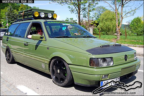 "passat wagon custom | Green VW Passat 35i Wagon ""Army style"" at the Woerthersee Tour 2013 ..."