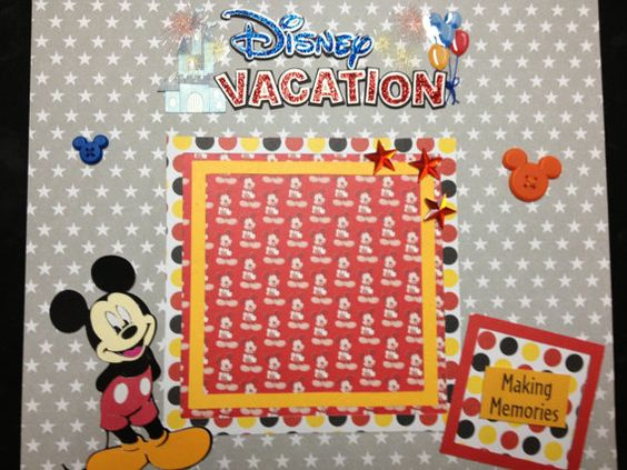 Premade Scrapbook Pages  Mickey Mouse Disney by mysecrethobby, $15.99