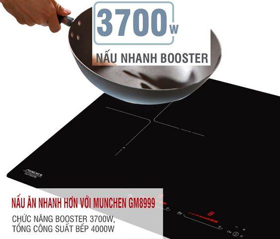 Tìm hiểu chức năng Booster trên bếp từ Munchen GM 8999