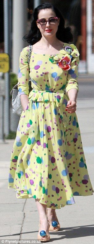 Dita Von Teese out for a lunch date in west Hollywood.