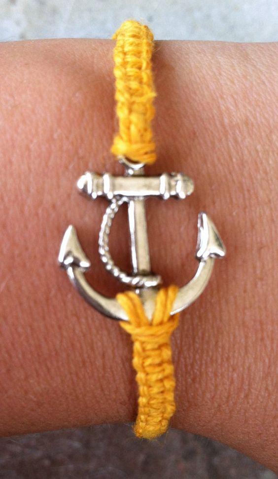 Orange Anchor Bracelet by krystleskrafts on Etsy, $4.50 NEW