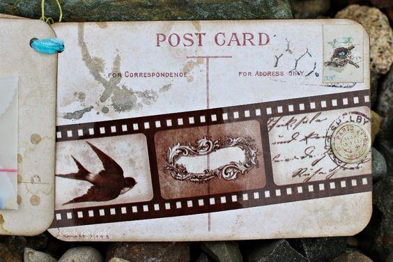 Garden Journal Post Card Mini Album by Rhonda Van Ginkel featuring Garden Journal Collection by BoBunny