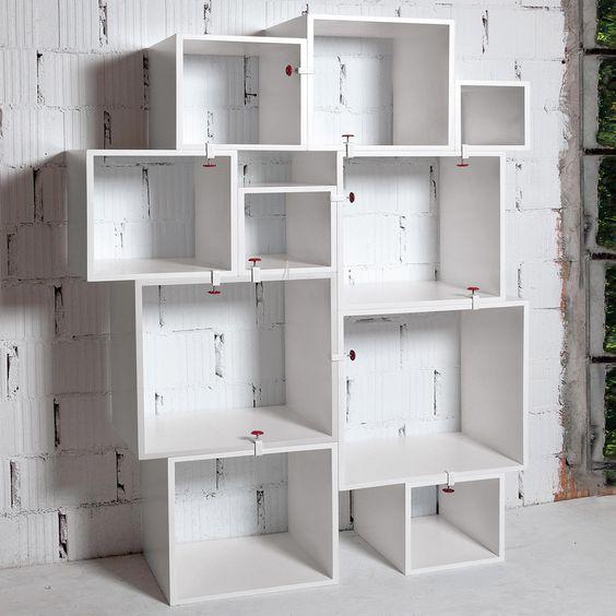 Mdf bookcase in white mod.assemblage, seletti. // mdf estantería ...