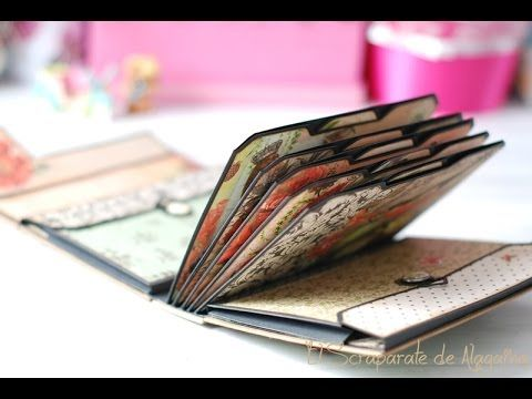 Tutorial scrapbooking album maleta youtube scrap mini - Como hacer un album scrapbook ...