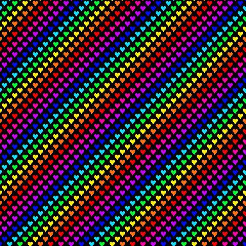 glitter rainbow hearts rainbow hearts on black