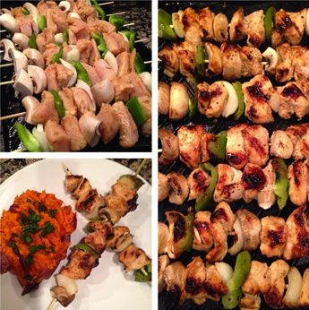 Teriyaki Lime Grilled Chicken Skewers