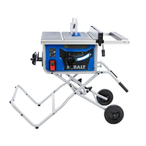 Kobalt 10 In Carbide Tipped Blade 15 Amp Portable Table Saw At Lowe S For Easy Completion Of Jobsite And Work In 2020 Portable Table Saw Table Saw Table Saws For Sale