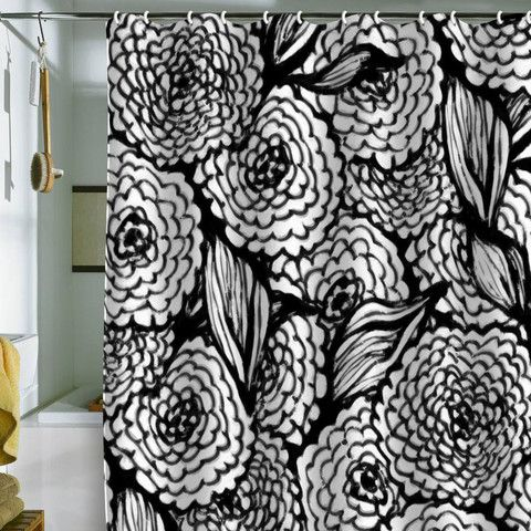 Curtains Ideas black shower curtain with white flower : Julia Da Rocha Bouquet Of Flowers Love Shower Curtain | Flower ...