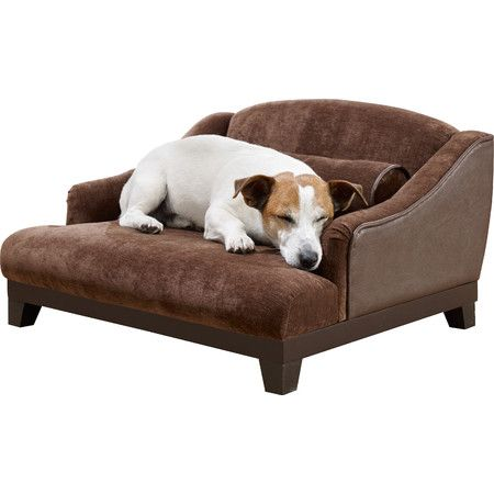 Let your furry friend relax in style with this eye-catching pet bed, featuring a sofa-inspired silhouette and brown upholstery.Produc...
