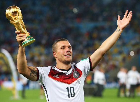 Seine Liebe zu Köln besiegelte Lukas Podolski mit einem Tattoo auf seinem Oberarm.