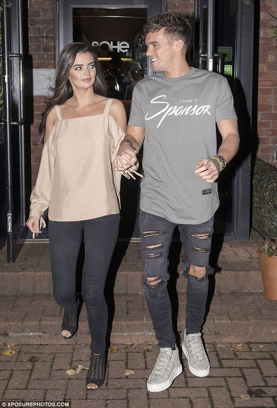 Gaz Beadle Black Ripped Jeans Outfit