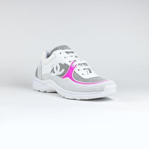 Chanel CC Logo White Pink Sneaker