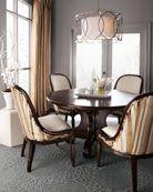 "Massoud  ""Nuson"" Dining Table & ""Morgan Stripe"" Dining Chair"