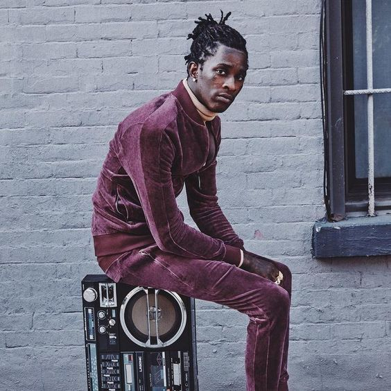 young thug dons velour for new puma campaign