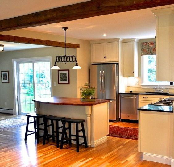 Before And After Of This Beautiful Open Concept Kitchen: Kitchens, Layout And Beams On Pinterest