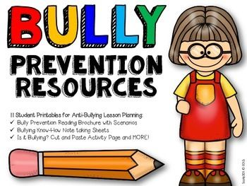 Bullying Prevention Teaching Resources for bully prevention week