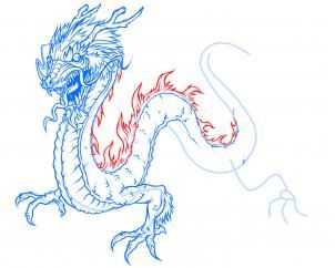 how to draw a nice dragon