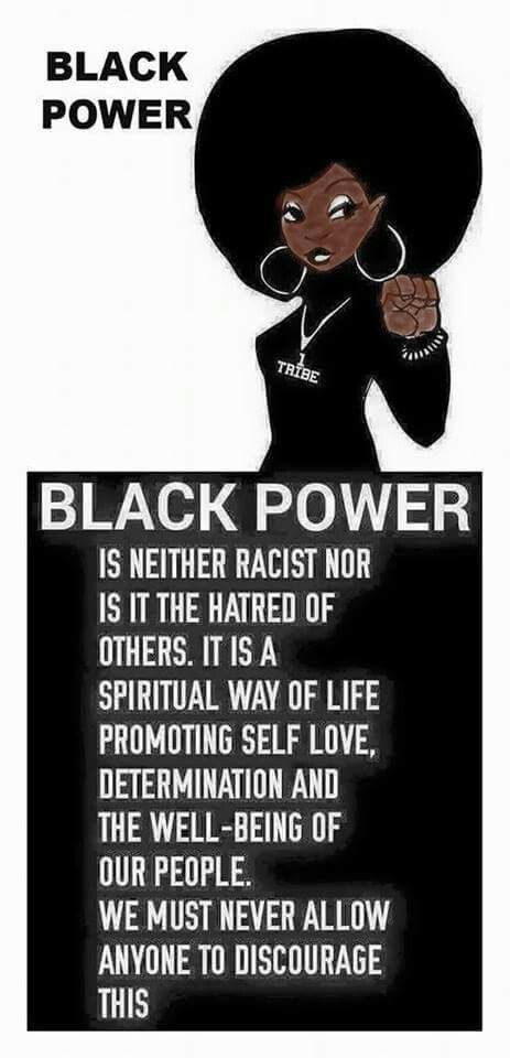 Not about hate of others (Alot of people don't seem to understand this). Not the equivalent of 'white power/supremecy':