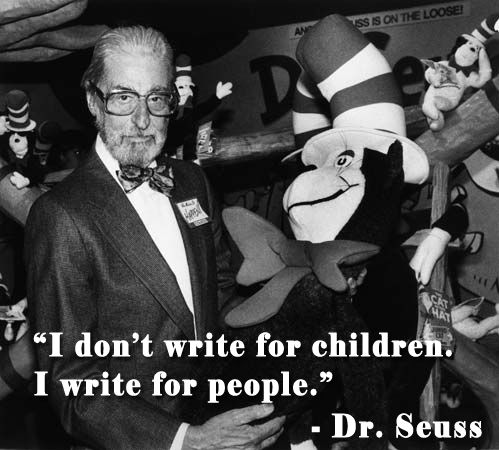 "Seuss also said: """"Ninety percent of the children's books patronize the child and say there's a difference between you and me, so you listen to this story. I, for some reason or another, don't do that. I treat the child as an equal."" #seuss #quotes:"