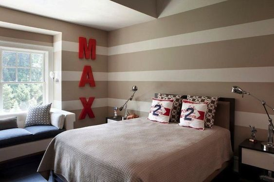 striped walls  boy bedrooms and boy rooms on pinterest