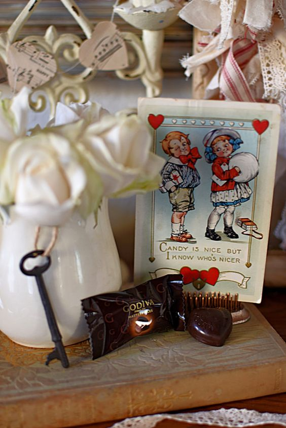 Adorable antique Valentine postcard vintage Valentine's Day
