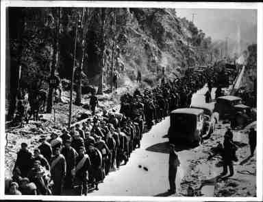 Internationale Brigade an der spanisch-französischen Grenze