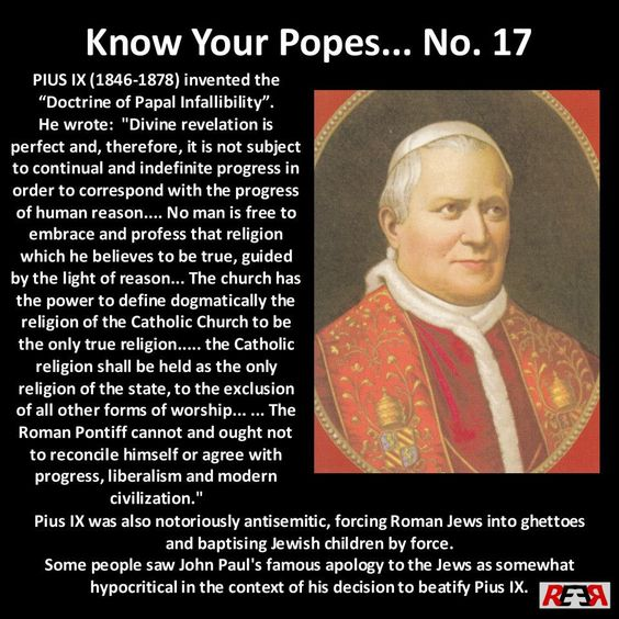 Catholicism was the only form of Christianity in the Dark Ages; the worst period in our human existence (500-1500AD).