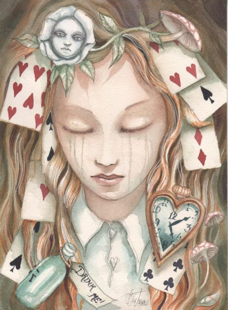 Alice in Wonderland Through The Looking Glass Art Original Painting Collectible | eBay. Painting by Dominic Murphy: